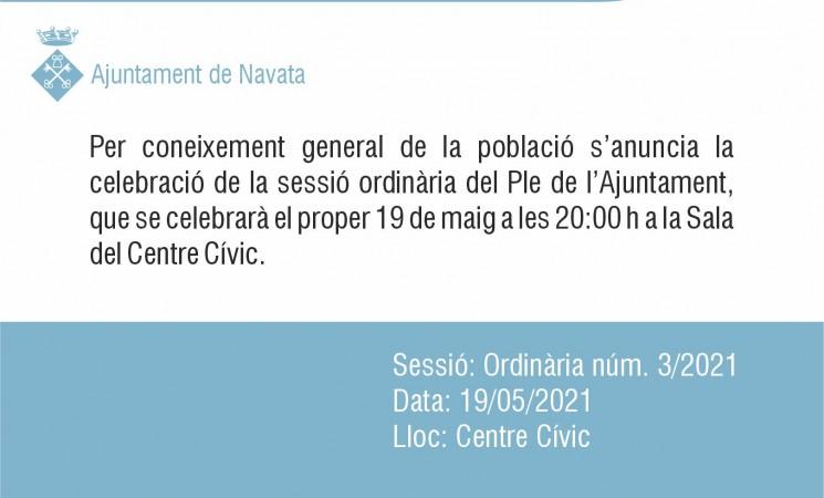 19 de maig Ple 3/21 Ajuntament de Navata