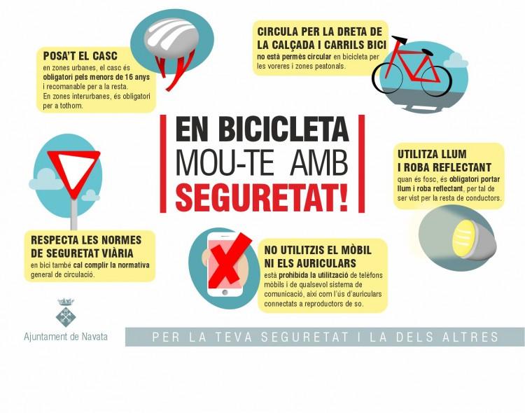 En bici, mou-te amb seguretat!