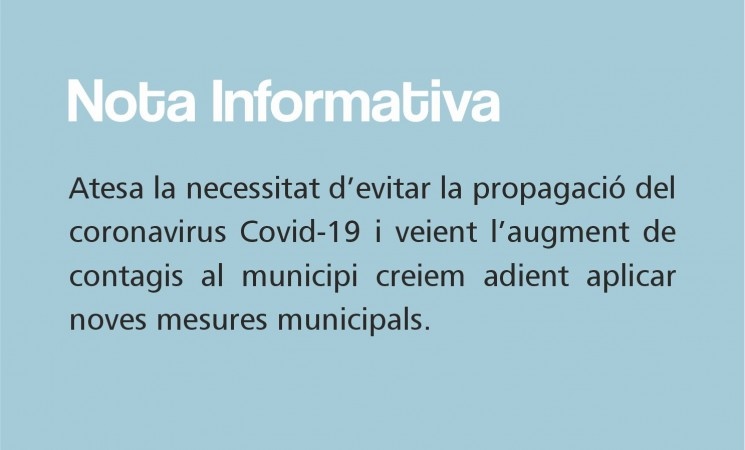 Noves mesures municipals