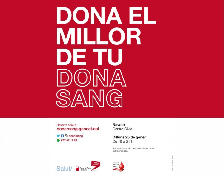 Donar Sang · 25 de gener